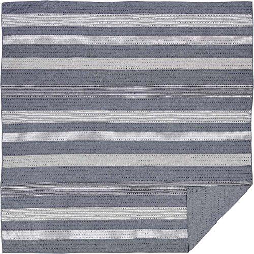 VHC Brands Coastal Farmhouse Bedding - Cape Cod Blue Quilt, Queen, Sea Glass