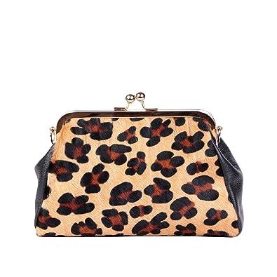 Angkorly - Borse Envelope Clutches bandolera Doctor Tote bag leopardo moderno Vendimia/Retro BCBG sexy estudiante mujer elegante de de moda idea de regalo ...