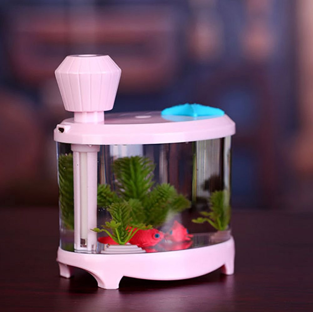 Amazon.com: VANKER Portable Fish Tank USB LED Light Humidifier Air Purifier Atomizer Aroma Mist Maker(Green): Home & Kitchen