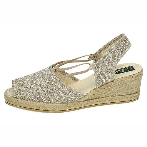 ISASA 0882/334 Alpargatas Esparto Mujer Alpargatas Plata 41: Amazon.es: Zapatos y complementos