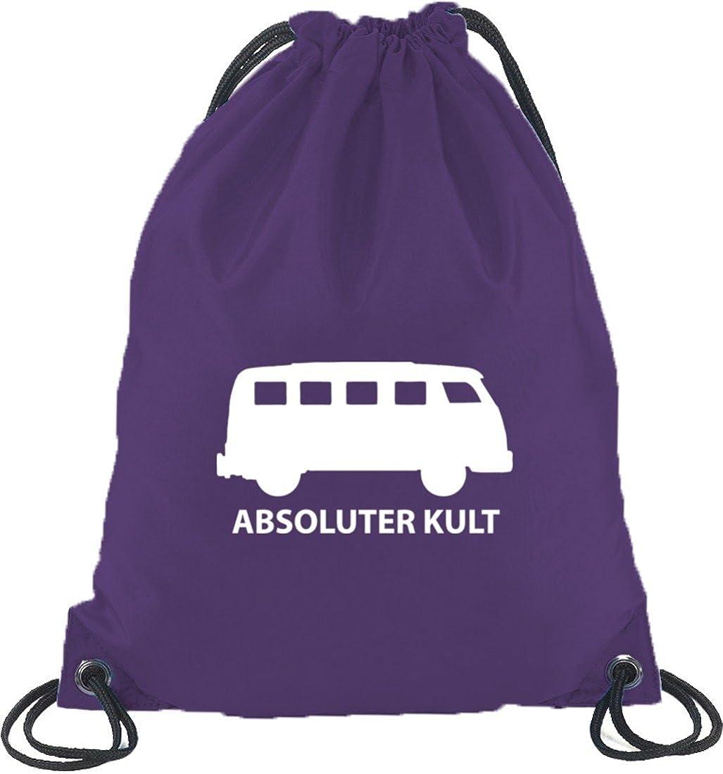Shirtstreet24 ABSOLUTER KULT Bus Turnbeutel Rucksack Sport Beutel