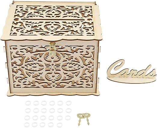 Caja de regalo del dinero de DIY Caja de tarjeta del vintage con las llaves para las recepciones de boda del cumpleaños regalo de la colección de la decoración: Amazon.es: Hogar