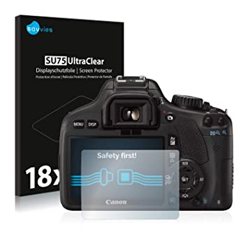 savvies Protector Pantalla Compatible con Canon EOS 550D (18 ...