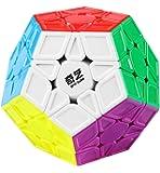 D ETERNAL QiYi QiHeng S Megaminx High Speed Stickerless Pentagon Cube Puzzle ,Multicolor