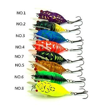 120 Stück Mehrfarbig Fischhaken Köder für Barsch Zander Angeln,