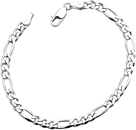 "Sterling Silver .925 Cuban Link D//cut Chain Necklace 7mm 180 gauge 16/""-36/"""