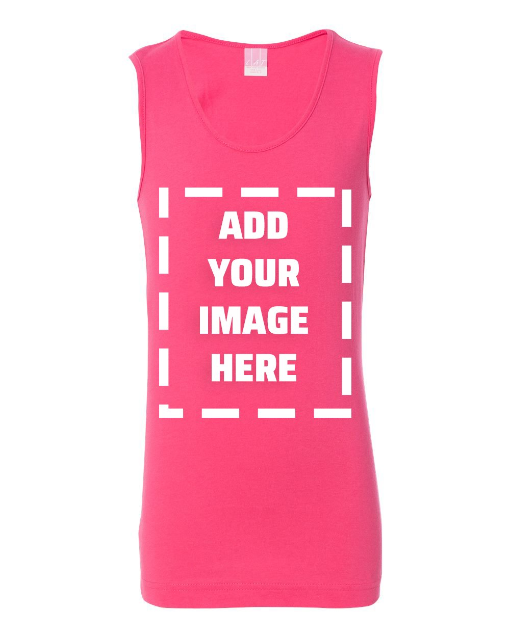 Marky G Apparel Personalize Add Your Own Image Fine Jersey Tank
