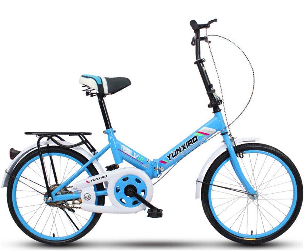 折りたたみ自転車 折り畳み 16インチ 20インチ 変速自転車 単速  変速 通勤 通学 小型 小径 簡単収納 B07BTZFRW1 20インチ単速|H H 20インチ単速