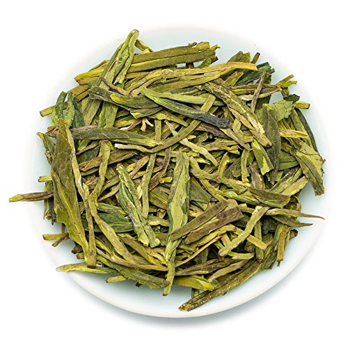 n Well Green Tea Leaves, Xihu Longjing Tea, Chinese Green Tea Loose Leaf, Natural Whole Leaves Rich AntiOxidants ()