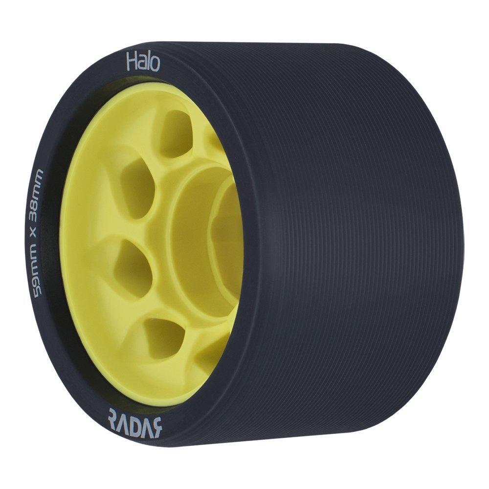 Radar Halo Wheels 59mm (Set of 4) (Charcoal / Yellow 91a)