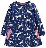 Fiream Girls Cotton Casual Longsleeve Cartoon Stripe Dresses(1738032TZ,6T/6-7YRS)