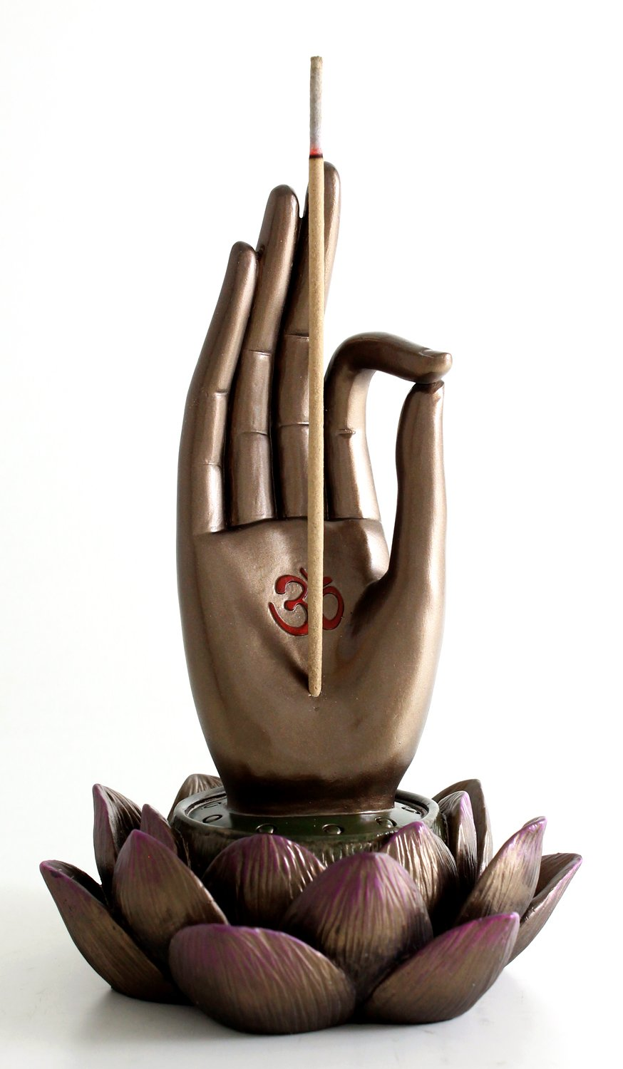 Top Collection Buddha Hand and Lotus Flower Vitarka Mudra Incense Holder Incense Burner by Top Collection (Image #5)