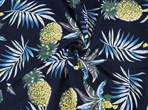 A Altura Informal amp;ananas Vestido – La Playa Verano Acampanada Rodilla Mangas Sin Falda De Navyblau Kormei Con ARPwOnfqxx