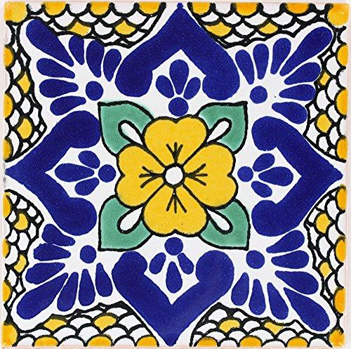Tierra y Fuego Box of 9-4¼ x 4¼ Polanco - Terra Nova Mediterraneo Ceramic Tile