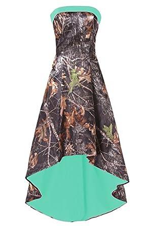 e7f97fdd639f6 Ci-ONE High Low Homecoming Dress Short Camo Wedding Bridesmaid Dresses  Turquoise, 2