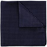 Navy Blue Pin Dot 100% Silk Pocket Square, Wedding Collection, Signature Wrapping Gift Boxed