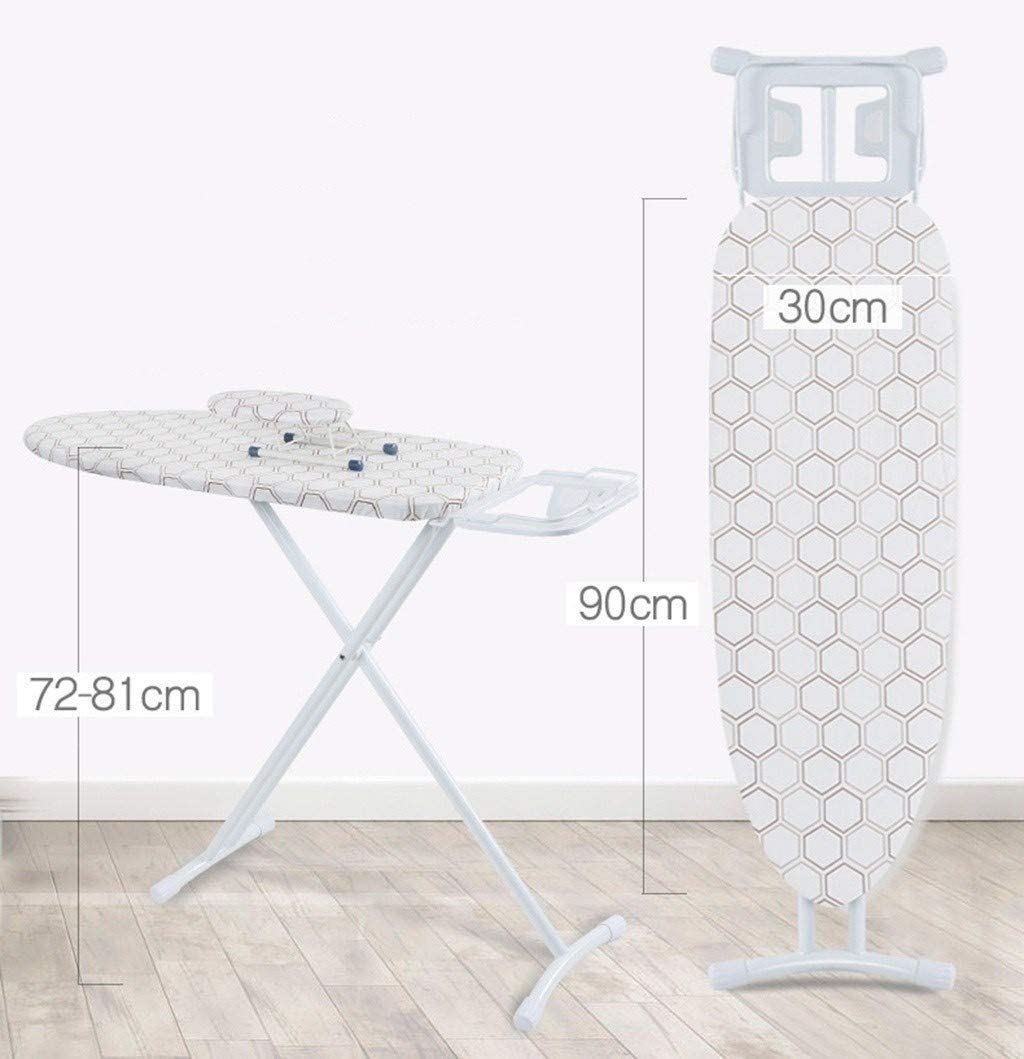 ZB-KK Laundry Ironing Board, Ergonomics Large Panel Ironing Board Breathable Metal Ironing Table, Easy to Fold and Store, 4 Colors,124.5 * 31 * 6CM (Color : A) A