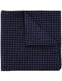 Azul marino Pin Dot azul y rosa 100% Seda Colección de bolsillo cuadrado boda en Firma regalo 12x 12