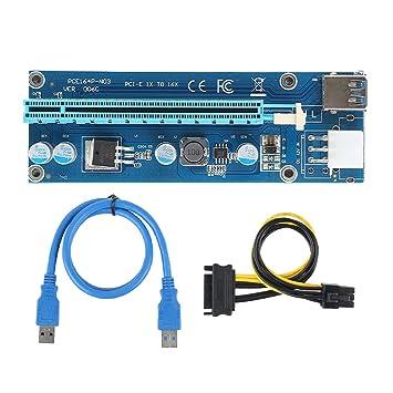 Usted USB3.0 PCI-E Express 1xa 16x Extensor Adaptador de ...