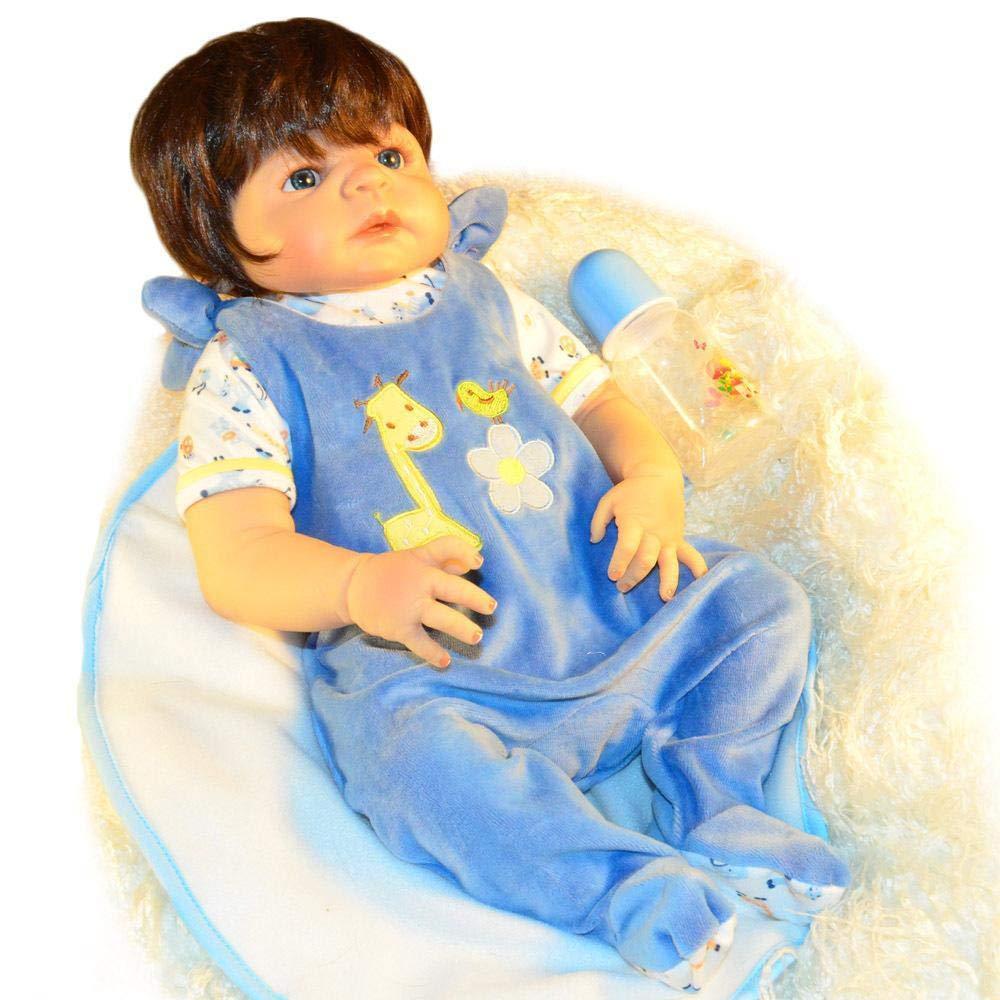 Hongge Reborn Bambola,in Silicone Bambola Reborn realistiche Bambino rinato, la Bambola Giocattolo Regalo 57cm