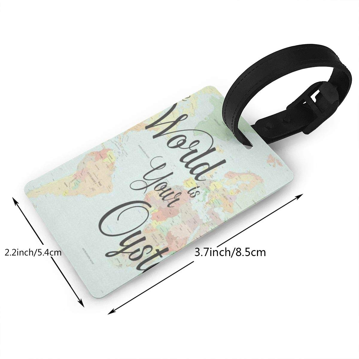 Luggage Tags Yellow Fall Maple Leaves Harvest Bag Tag for Travel 2 PCS