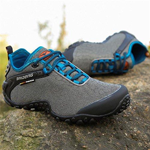 campeggio Donna Uomo leggero trekking da per antiscivolo da estate traspirante per Scarpe autunno ginnastica Grey e e peluche escursione arrampicata scarpe qBZnF