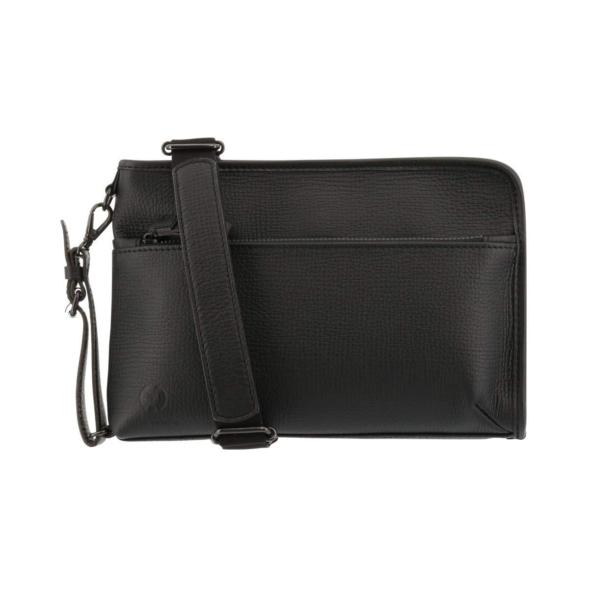 [ミラショーン] クラッチバッグ メンズ 日本製 バル 291151 B07H4Z56Y5 【01】ブラック