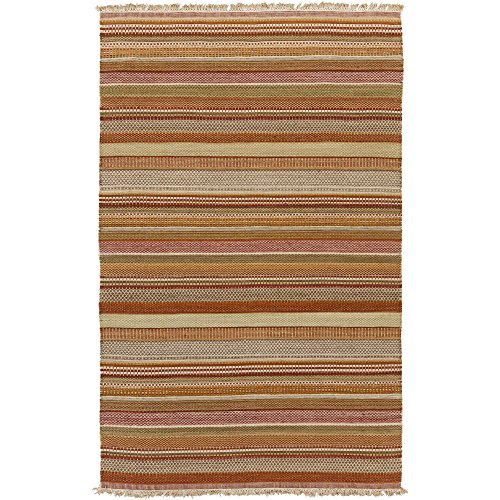 Surya TIB4001-23 Tibet Area Rug, 2' x 3', Beige/Taupe/Burgundy/Rust/Olive/Chocolate/Gold/Tan/Burnt Orange