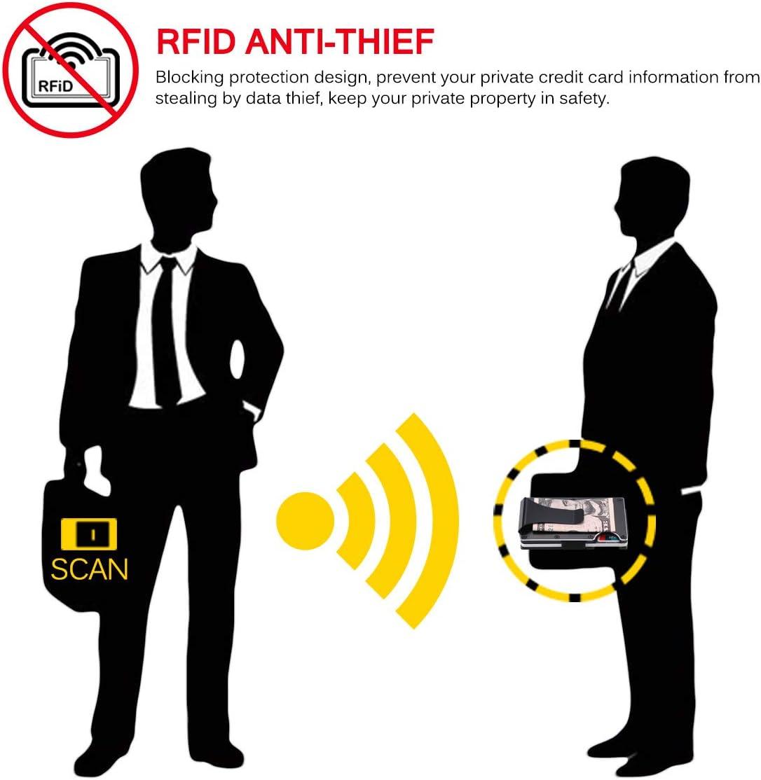 Vvciic Fibre de Carbone Portefeuille Portefeuille en m/étal Carte de cr/édit Porte RFID Carte m/étal Paquet