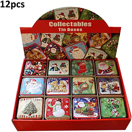 MRlegendary Cajas 12PCS Navidad Caja Cuadrada Pequeña Embalaje De ...