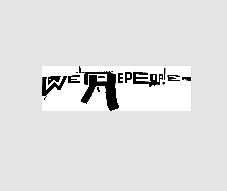 WE the People AR15 DI CUT | Decal Vinyl Sticker | Cars Trucks Vans Walls Laptop | Hunting buck bow shooting enthusiasts Custom