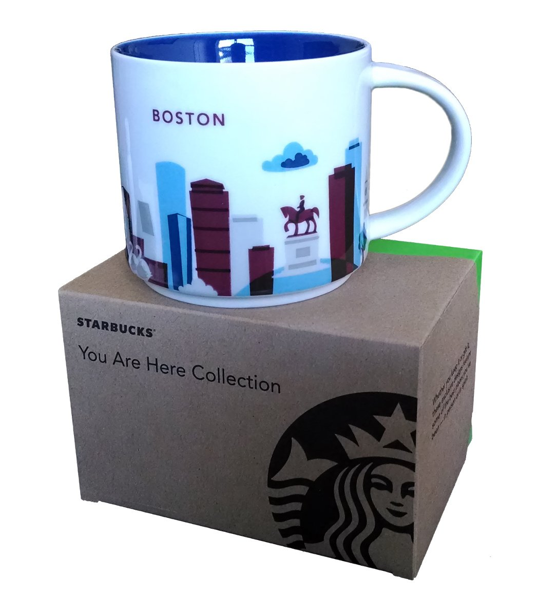 Amazon Starbucks Coffee Mug You Are Here Collection Boston 14 Oz Kitchen Dining