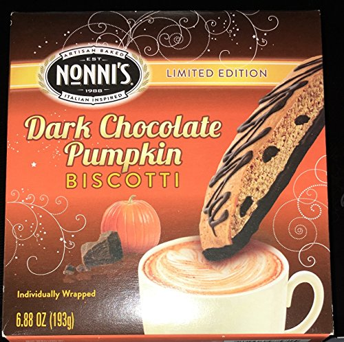 Nonnis Dark Chocolate Biscotti Limited Edition 8 Individually Wrapped Biscotti, Total Weight 6.88 Oz.