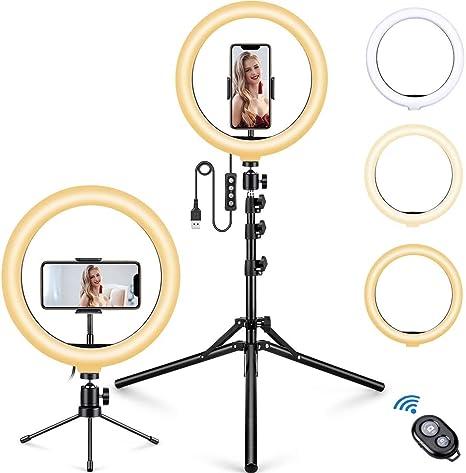 Mosfiata Ringlicht 10 2 Zoll Led Selfie Ringlicht Mit Kamera