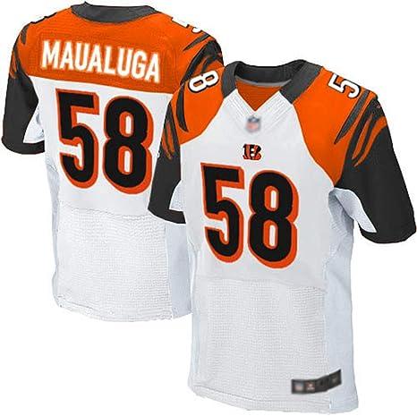 JUNBABY Cincinnati Bengals 58# Rey Maualuga Camiseta De Rugby, Camisa De FúTbol para Hombre, Camisetas Bordada De Rugby: Amazon.es: Deportes y aire libre