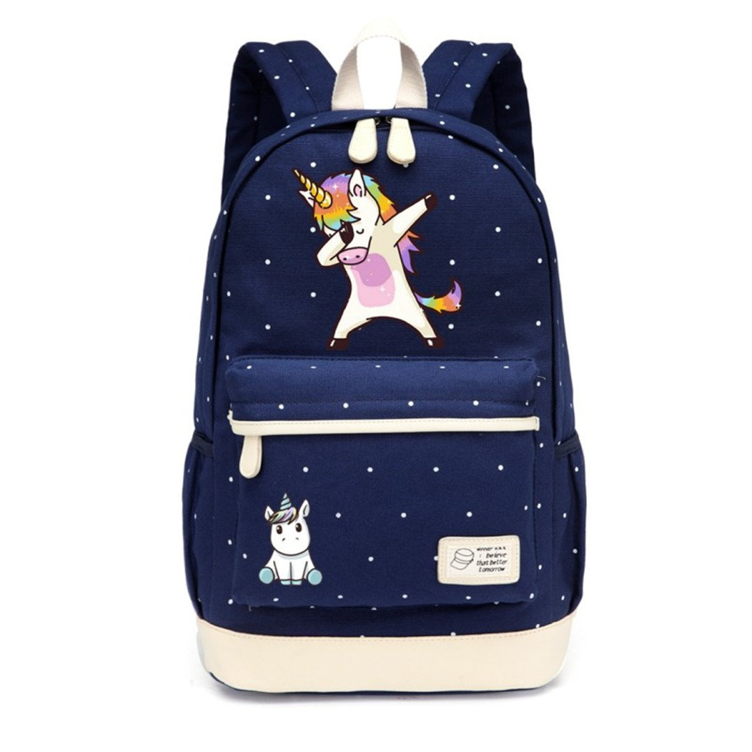 Amazon.com: Cartoon Backpack Shoulder Travel Bag For Teenagers Girls Women Canvas Dot School Bag: Beauty Nail Shop