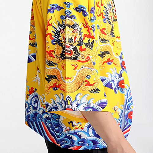 Men Japanese Yukata Coat Kimono Outwear Vintage Loose Top Chinese Dragon by Hao Run (Image #1)
