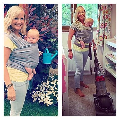 bf8f4af71428 • Daisygro • Premium bébé Sling Carrier   Echarpe de   nouveau-nés,  nourrissons, enfants   créer une Naturel Bond   allaitement Coque    respirant Coton doux ...