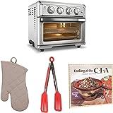 Cuisinart TOA60 Air Fryer Toaster Oven + Oven Mitt, Flipper Tongs and Cookbook