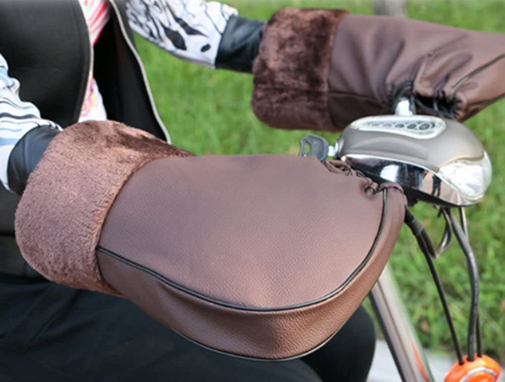 Scooters Waterproof and Windproof Gloves Installed on Handle Handlebar Sleeves for Motorbikes Winter Motorcycle Handlebar Gloves