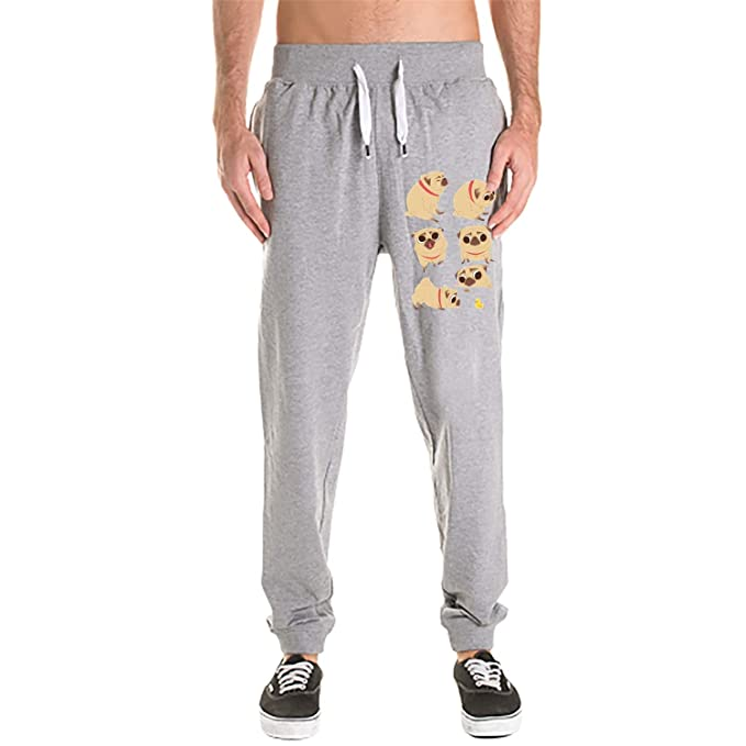 1c25567304 Men 3D Digital Print Gym Sport Jogging Pants Tees Casual Sweatpants Cartoon  Pugs