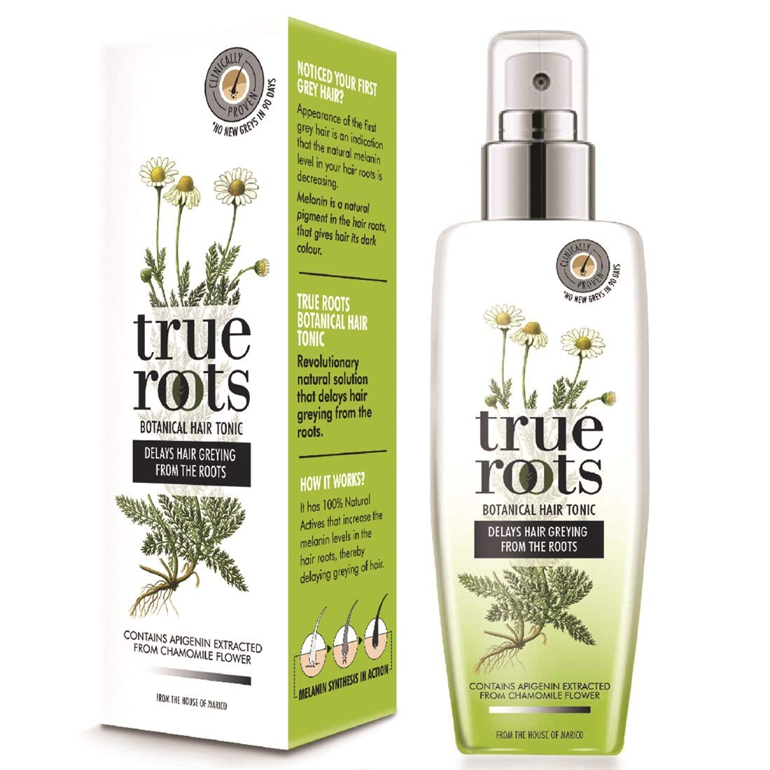 Buy True Roots Botanical Hair Tonic To Delay Hair Greying 75 Ml Online At Low Prices In India Amazon In