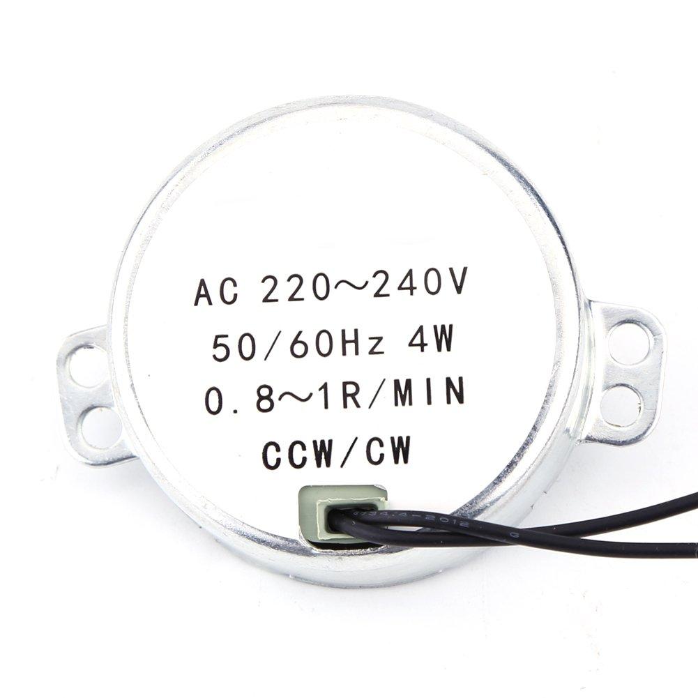 Moteur Synchrone CA 220-240V Motoris/é 4W CW//CCW 5-6RPM