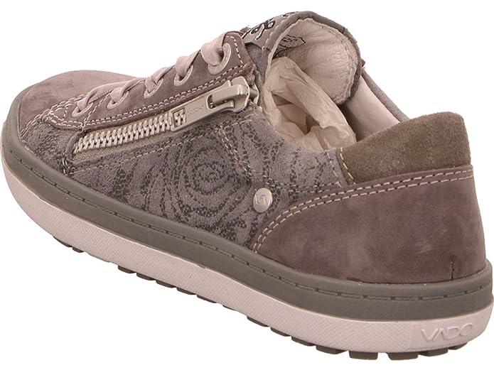 Vado 51003-408 Pina - Zapatillas de Piel para niña, color gris, talla 34 EU