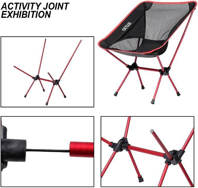 GZDD Chaise Pliante compacte l/ég/ère et Durable,chaises Portables avec Tasse pour Le Camping,Les Festivals,Le Jardin,Les Voyages en Caravane,la p/êche,la Plage et Les barbecues,