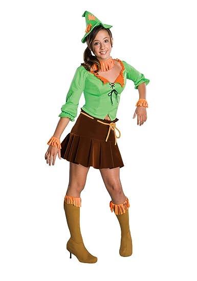 Amazoncom Wizard Of Oz Tween Girl Scarecrow Costume Clothing