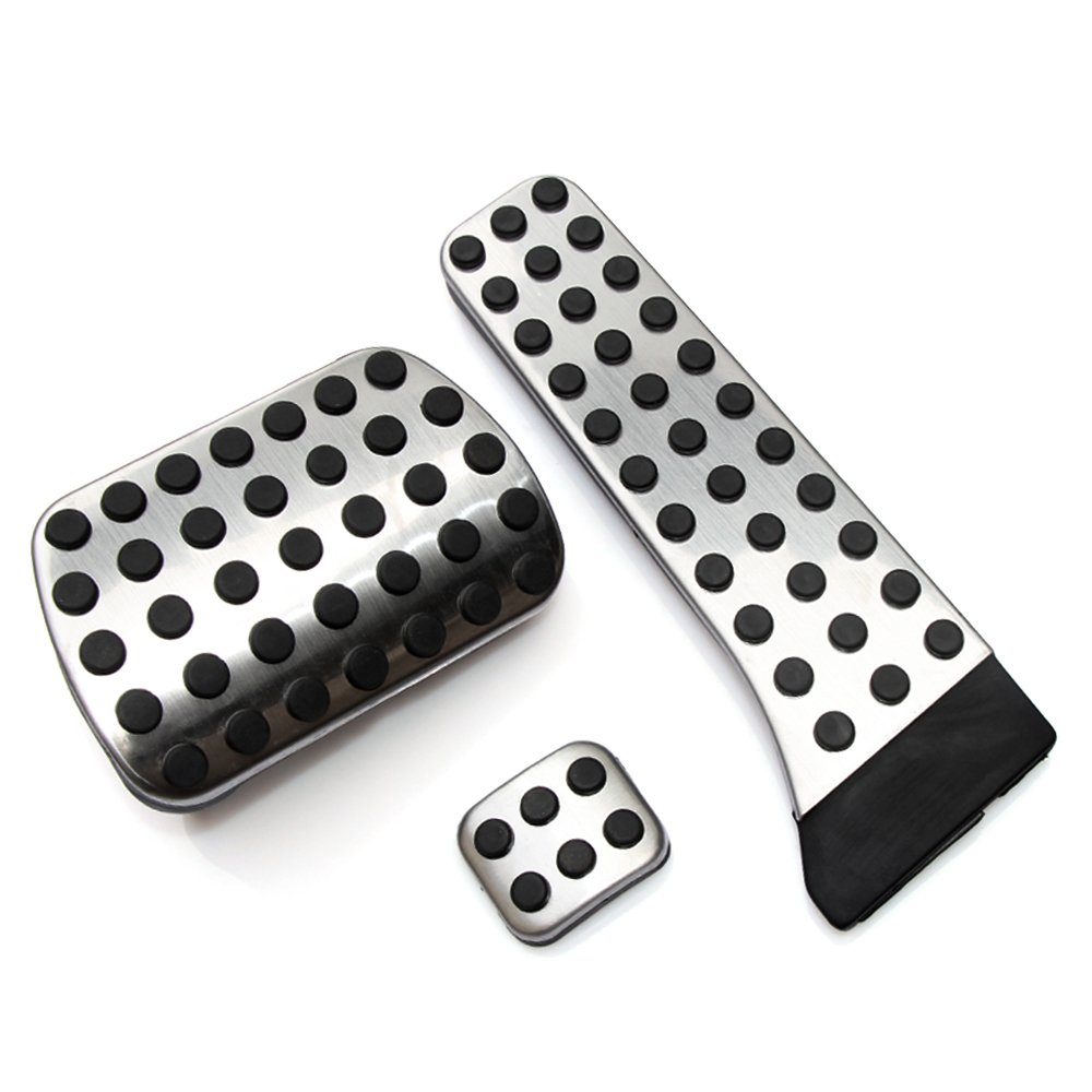 VCiiC No Drill Fuel Brake Foot Pedals for Mercedes Benz at C E S GLK SLK CLS SL Class W203/W204/W211/W212/W210(LHD)