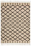 Cheap Rivet  Shag Diamond Morrocan Mat, 2'2″ x 4″, Cream
