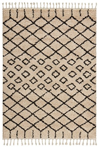 Rivet Shag Diamond Morrocan Area Rug, 7' 10