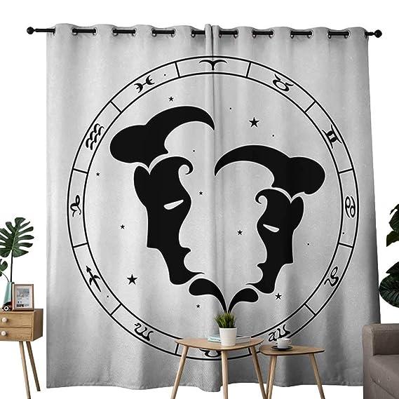 NUOMANAN cortina opaca térmica aislada con signos del zodiaco ...